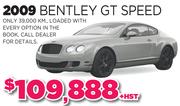 2009 Bentley GT Speed Toronto