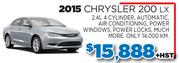 2015 Chrysler 200 LX in Toronto