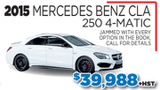 2015 Mercedes benz CLA 250 4-matic in Toronto