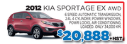 2012 Kia Storage EX AWD Toronto