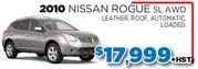 2010 Nissan Rogue SL AWD in Toronto