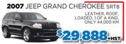 2007 Jeep Grand Cherokee SRT8 in Toronto