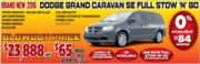 New 2016 Dodge Grand Caravan SE Full Stow N Go