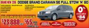 New 2016 Dodge Grand Caravan SE Full Stow N Go