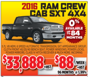 2016 Ram Crew Cab SXT 4*4 in Toronto