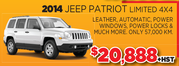 2014 Jeep Patriot Limited 4X4 Toronto