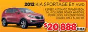 2012 Kia Sportage EX AWD Toronto