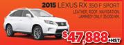 2015 Lexus RX 350 F Sport Toronto
