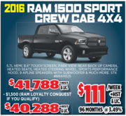 2016 Ram 1500 Sport Crew Cab 4X4 Toronto