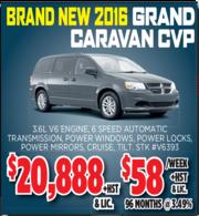 2016 Grand Caravan CVP Toronto