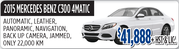 2015 Mercedes Benz C300 4Matic Toronto