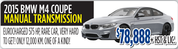 Used 2015 BMW M4 Coupe Toronto